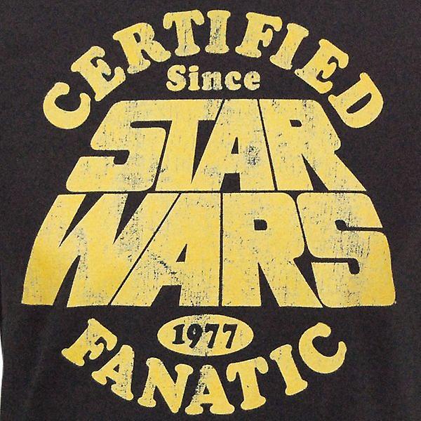 Star Wars Mens Star Wars Fanatic T Shirt noir