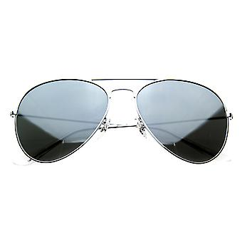 Mirrored Aviators Silver Metal Aviator Sunglasses
