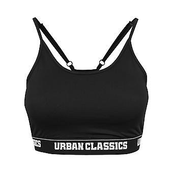 Urban classics ladies - black SPORTS BRA