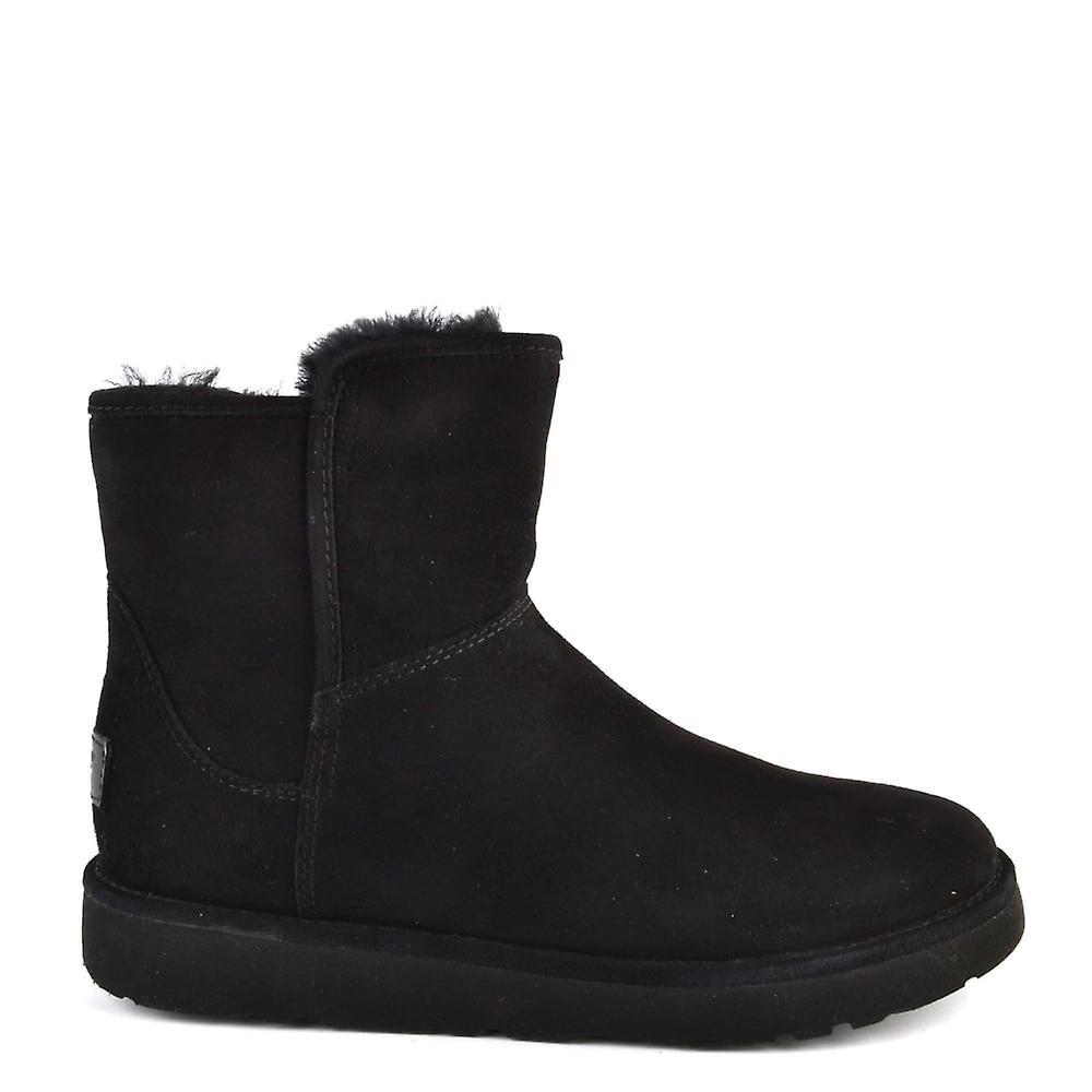 UGG Abree Mini Lux Klasyczne czarne zamszowe buty aPsyH