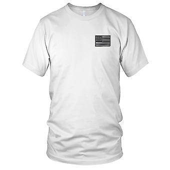 US Armee - U. S. Flag Silber rechten Ärmel gestickt Patch - Haken und Schleife-Herren-T-Shirt
