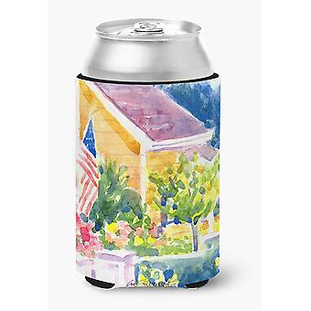 Carolines Treasures  6134CC Houses Can or Bottle Beverage Insulator Hugger