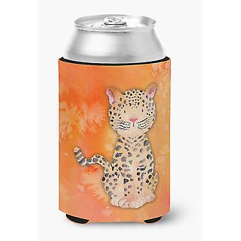 Carolines Treasures  BB7396CC Leopard Watercolor Can or Bottle Hugger