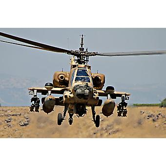 An AH-64A Peten attack helicopter of the Israeli Air Force Poster Print by Ofer ZidonStocktrek Images