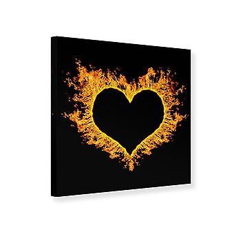 Canvas Print hart vlam
