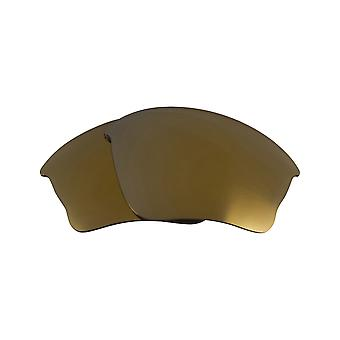 Polarized Replacement Lenses for Oakley Half Jacket XLJ Frame Gold Anti-Scratch Anti-Glare UV400 by SeekOptics