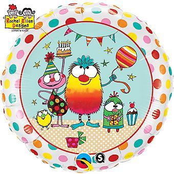 Qualatex Rachel Ellen Monster partij ronde folie ballon