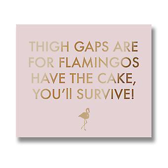 Hill Interiors Thigh Gaps Are For Flamingos Metallic Detail Plaque