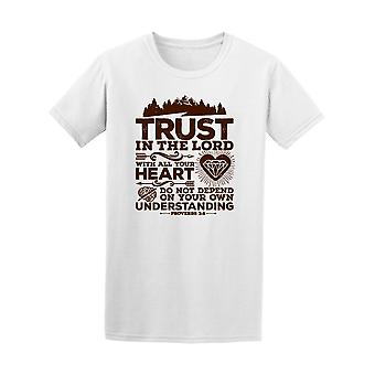 Proverbs Trust In The Lord Bible Tee Men's -Image by Shutterstock