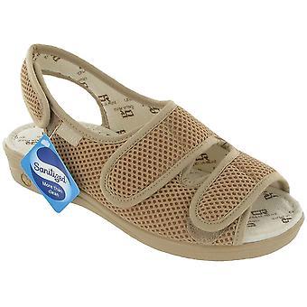 Mirak las señoras Celia Ruiz Sling volver ancho ajuste ergonómico sandalia marrón