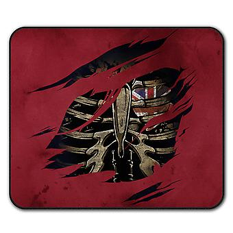 UK Skeleton Death  Non-Slip Mouse Mat Pad 24cm x 20cm | Wellcoda