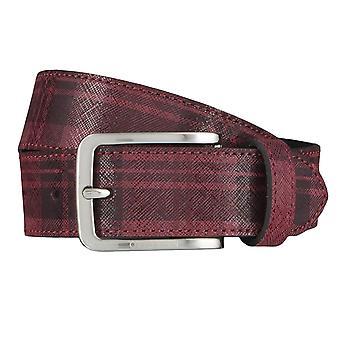 OTTO KERN belts men's belts leather belt Bordeaux 4530