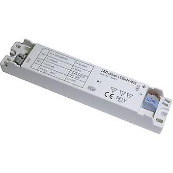 LT20-24/833 LED transformer, LED driver Constant voltage, Constant current 0.87 A 15 - 24 Vdc not dimmable, PFC circuit, Surge protection, Approved for use on