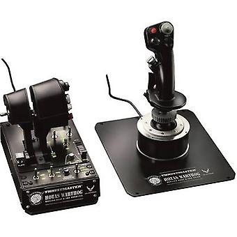 ThrustMaster Hotas Warthog Flight sim joystick USB PC Black