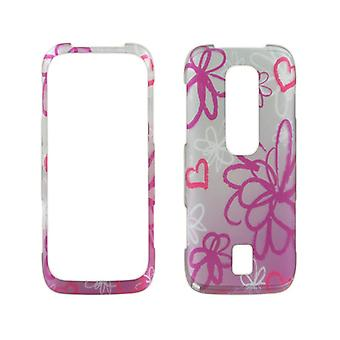 Wireless Accessories Snap-On Case for Huawei Ascend M860 (Pink Floral)