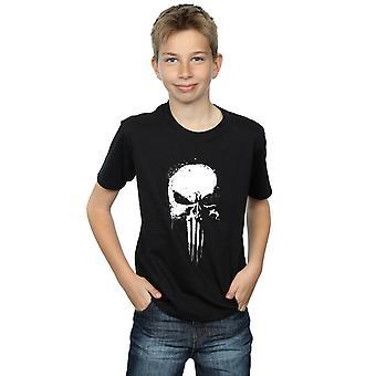 Marvel Boys The Punisher Spray Skull T-Shirt