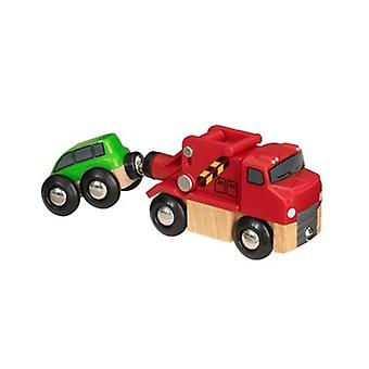 BRIO Tow Truck 33528 Extra Vehicle for Wooden Railway Set