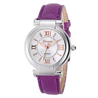 Ladies Girls Analogue Smart Rose Gold Silver Watch Watches Kids Purple Strap