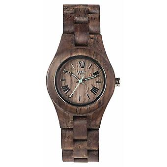 WeWood Womens Criss Choco Rough Wooden Strap 70210511 Watch