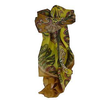 Bufanda de morera de seda clásico Plaza Querim caramelo por Pashmina y seda
