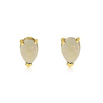 LXR 14k keltainen kulta opaali päärynän muotoiset korvakorut 0.27ct