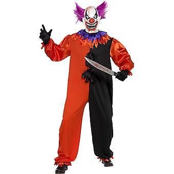 """Cirque skumle skummelt Bo Bo Clown Costume, brystet 34""""-36"""""""
