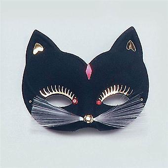 Cat Eye Mask. Grote, zwarte.