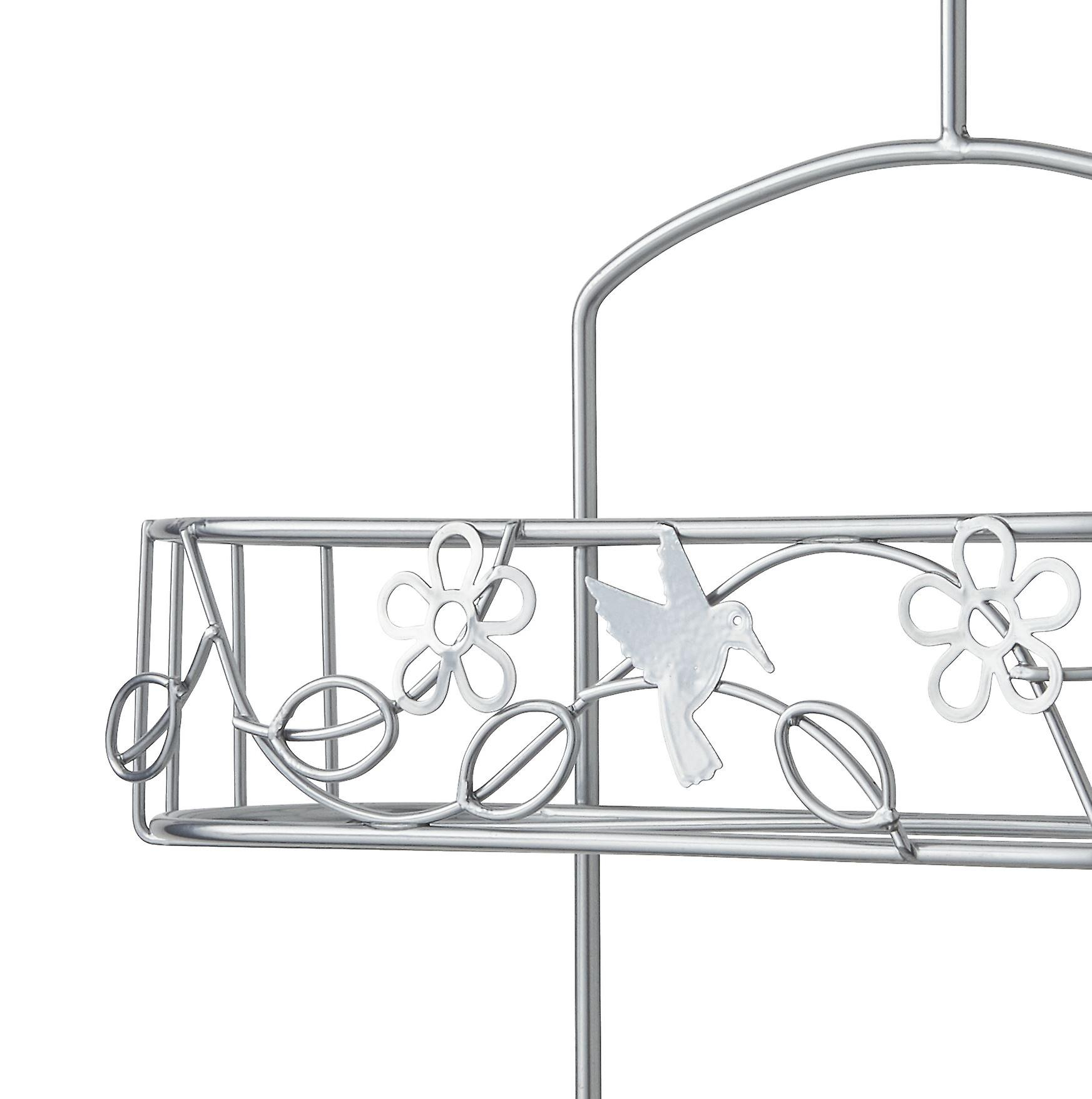 Shower Caddy In Silver Nano Powder Coating