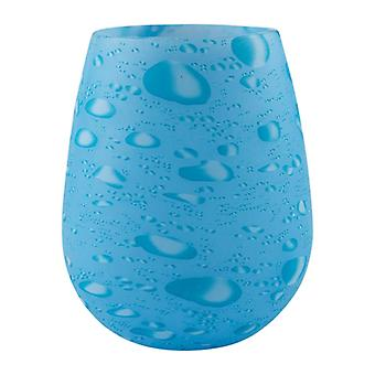 Silicone drinking glasses with pattern-blue water droplets