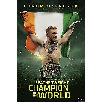 Conor McGregor Poster UFC Champ Featherweight Champion Of The World
