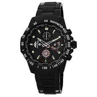 Burgmeister BMS01-622-watch armbåndsur rustfrit stål sort coated