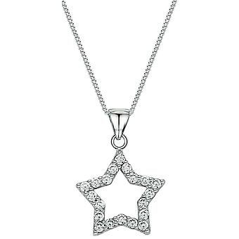 Bella Open Star Pendant - Silver