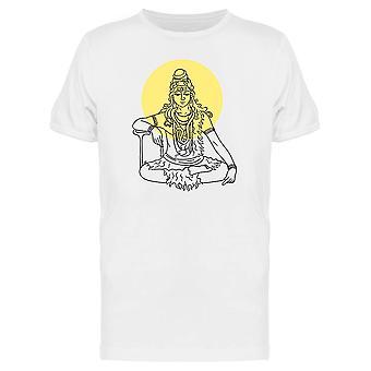 Lord Shiva Sitting In Meditation Tee Men's -Image by Shutterstock