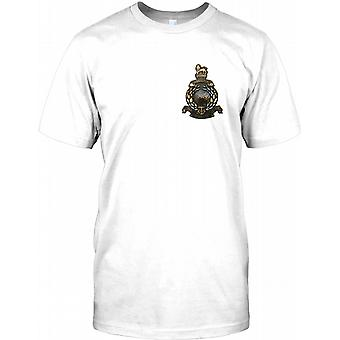 Royal Marines brüniert Effect - Brust Logo Herren T Shirt