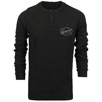 QUIKSILVER Mens Polar acque camicia Raglan LS - grigio asfalto