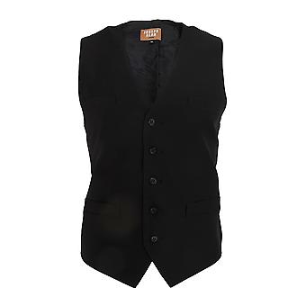 Dennys Joseph Alan Mens Plain Self Back Waistcoat (Pack of 2)