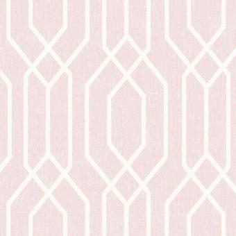 Pink New York Geometric Wallpaper Trellis Hexagon Modern Arthouse