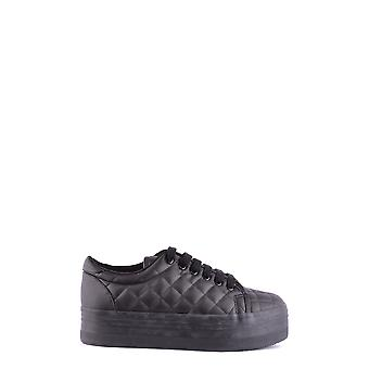 Jeffrey Campbell Ezbc132044 Women-apos;s Black Faux Leather Sneakers
