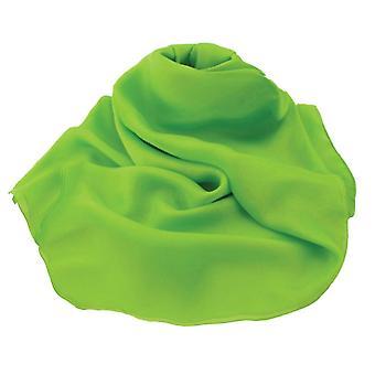 جمع الأبدية عادي الجير الأخضر Oblong الحرير النقي وشاح الشيفون
