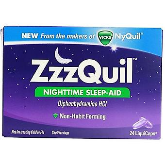 Vicks ZzzQuil Nighttime Sleep-Aid LiquiCaps 24 LiquiCaps Box