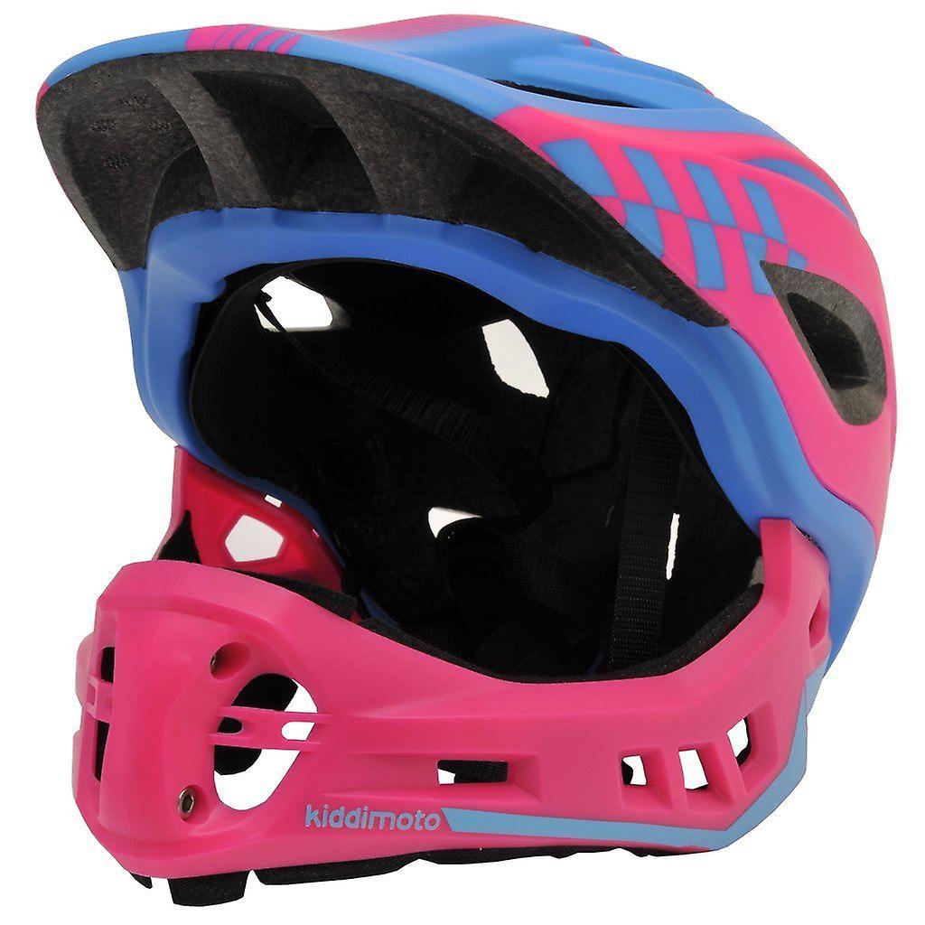 Kiddimoto IKON Full Face Helmet-Pink/Blue
