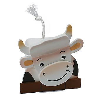 Weizenkorn Piggy Bank 3D Cow Wood
