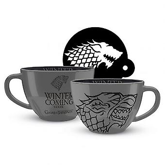 Game Of Thrones Cappuccino Mug Stark