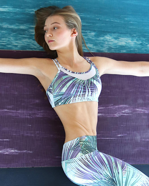 Yoga Bra with Mesh Insert