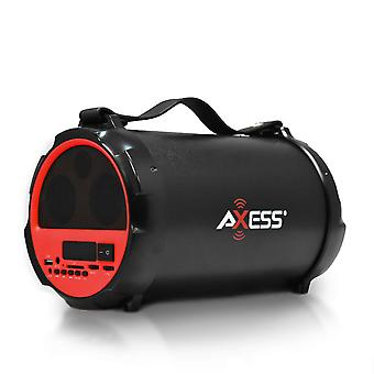 Axess Bluetooth Hi-Fi Cylinder Loud Speaker with 4