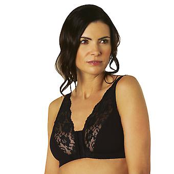 Eden House Pack of 5 Bra Cotton Lace Front Fastening Magic Bra
