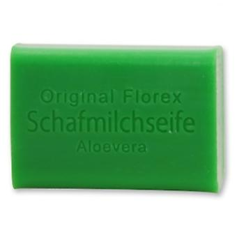 Florex sheep's milk soap - Aloe Vera - creamy soap particularly moisturizing and nourishing 100 g