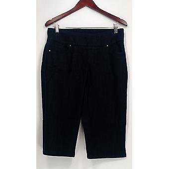 Denim & Co. kvinder ' s Petite jeans perfekt denim glat talje blå A252863