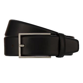 MONTI BORDEAUX Belt Men's Belt Leather Belt Black 8141