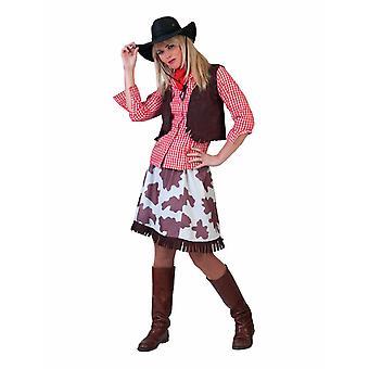 Cowgirl Kuhhirtin Damenkostüm Präriegirl Wild West Damen Kostüm